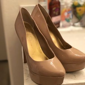 Jessica Simpson Nude Waleo Patent Leather Pumps 9